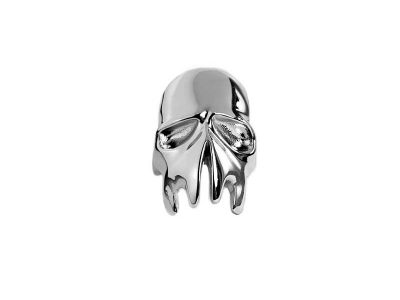 Liquefied Skull Ring on white background - front view