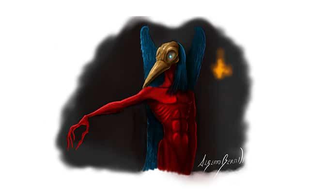 Disegno raffigurante Malphas, il Demone Corvo - Feel No Pain