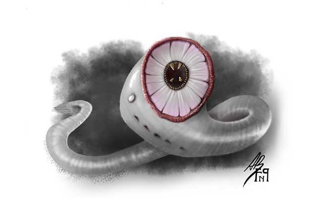 Disegno di Cariddi, mostro marino - Feel No Pain
