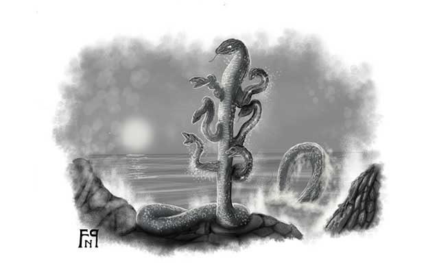 Disegno del serpente marino Idra - Feel No Pain